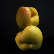 Foodstuffs Photos - Two apples by Bernard Jaubert