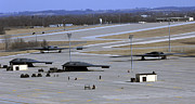 Stealth Prints - Two B-2 Bombers Taxi Down Taxiway Delta Print by Stocktrek Images
