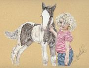 Gypsy Pastels Prints - Two Babies Print by Terry Kirkland Cook