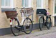 Ladies Bike Photos - Two Bicycles With Baskets by Hans Engbers