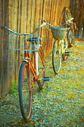Aging Photos - Two Bicyles by Tara Turner