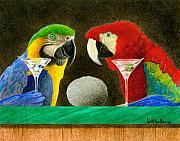Macaws Prints - Two birds with one stone... Print by Will Bullas