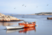 Skiffs Framed Prints - Two Boats in Peggys Cove Framed Print by Susan Isakson