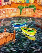 Lee Halbrook Metal Prints - Two Boats Metal Print by Lee Halbrook