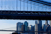 Fdr Drive Prints - Two Bridges Print by Andrea Simon