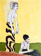 Klimt Painting Originals - Two Brothers by Seth Angle