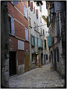 Rovinj Posters - Two Chairs in Rovinj - Croatia Poster by Madeline Ellis