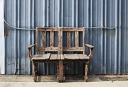 Label Prints - Two Chairs One Bench  Print by Viktor Savchenko