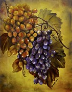 Grapes Paintings - Two choices by Carol Sweetwood