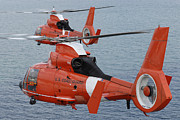 Search And Rescue Photos - Two Coast Guard Hh-65c Dolphin by Stocktrek Images