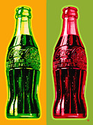Coca-cola Framed Prints - Two Coke Bottles Framed Print by Gary Grayson