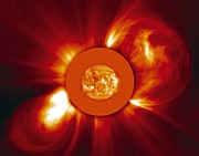 Bipolar Photo Posters - Two Coronal Mass Ejections Poster by Solar & Heliospheric Observatory consortium (ESA & NASA)