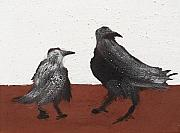 Crows Prints - Two Crows Print by Sophy White