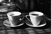 Two Cups Of Coffee In Sunlight Print by Breeze.kaze