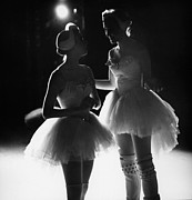 Ballet Dancers Photo Prints - Two dancers back lighting Print by Jesse Gerstein