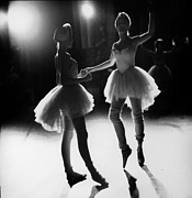 Ballet Dancers Photo Prints - Two Dancers NYC Ballet Company Print by Jesse Gerstein