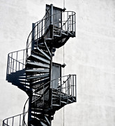 Spiral Staircase Photos - Two Doors by Odd Jeppesen