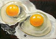 Eggs Pastels Posters - Two Eggs  Poster by Joyce Geleynse