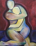 Embrace Paintings - Two Embrace by Teres Lillian