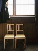 2 Seat Prints - Two Empty Chairs Beneath a Window Print by Thom Gourley/Flatbread Images, LLC
