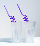 Straws Posters - Two Empty Glasses Poster by Christopher and Amanda Elwell