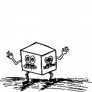 Cartoon Drawings - Two Face Box by Karl Addison