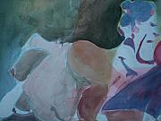 Nudes Painting Originals - Two Figures by Aleksandra Buha