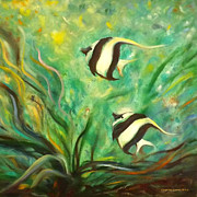 Pieces Originals - Two Fish by Gina De Gorna