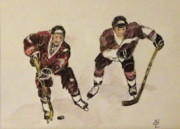 Goal Drawings - Two for hockey by Lennart Osterlind