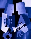 Featured Paintings - Two For The Blues by Thomas Andersen