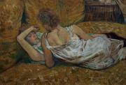 Boudoir Paintings - Two friends by Henri de Toulouse-Lautrec