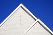 Patterned Posters - Two Gabled Rooflines Poster by Jeremy Woodhouse
