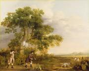 Hunting Posters - Two Gentlemen Shooting  Poster by George Stubbs