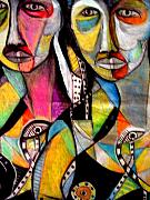 Nappy Head Art Mixed Media - Two Girls by Robert Daniels