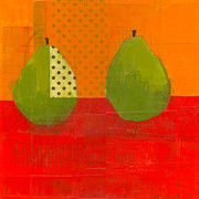 Pear Originals - Two Green Pears by Laurie Breen