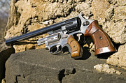 Susan Leggett Acrylic Prints - Two Hand Guns Acrylic Print by Susan Leggett