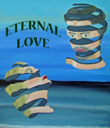 Asia Mixed Media Acrylic Prints - Two heads ETERNAL LOVE Acrylic Print by Eric Kempson
