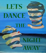 Eric Kempson Painting Prints - Two Heads  LETS DANCE THE NIGHT AWAY Print by Eric Kempson