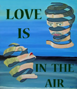 Asia Mixed Media Acrylic Prints - Two Heads LOVE  IS IN THE AIR Acrylic Print by Eric Kempson