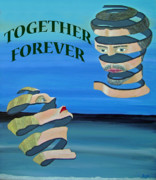 Special Occasion Painting Posters - Two Heads Together Forever Poster by Eric Kempson