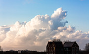 Two Houses One Cloud Print by Semmick Photo