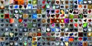 Grid Of Heart Photos Digital Art - Two Hundred and One Hearts by Boy Sees Hearts