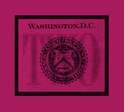 Washington D.c. Digital Art Acrylic Prints - TWO in HOT PINK Acrylic Print by Rob Hans