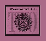 Washington D.c. Digital Art Acrylic Prints - TWO in LIGHT PINK Acrylic Print by Rob Hans