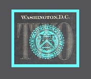 Washington D.c. Digital Art Acrylic Prints - TWO in NEGATIVE Acrylic Print by Rob Hans