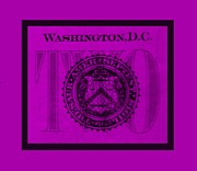 Washington D.c. Digital Art Acrylic Prints - TWO in PURPLE Acrylic Print by Rob Hans