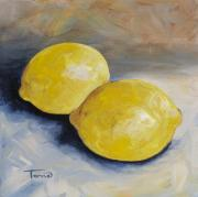 Lemon Paintings - Two Lemons by Torrie Smiley