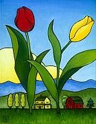 Tulips Art - Two Lips by Stacey Neumiller