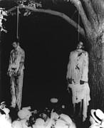 African-americans Posters - Two Lynched African American Men Poster by Everett