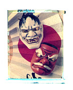 Folk Arts Posters - Two Masks Poster by Garry Gay